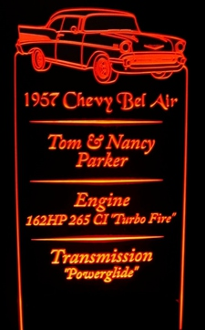Story Board Storyboard for Car Shows 12 x 24 Black Steel Base available. Acrylic Lighted Edge Lit LED Sign / Light Up Plaque Full Size USA Original