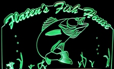 Fish Walleye Trophy Acrylic Lighted Edge Lit LED Sign / Light Up Plaque Full Size USA Original