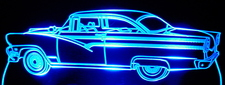 1956 Ford Acrylic Lighted Edge Lit LED Car Sign / Light Up Plaque