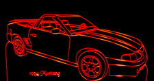 1994 Ford Mustang Convertible Acrylic Lighted Edge Lit LED Car Sign / Light Up Plaque