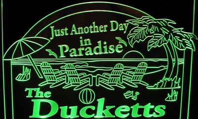 Ducketts Bar Sign Acrylic Lighted Edge Lit LED Sign / Light Up Plaque Full Size Made in USA