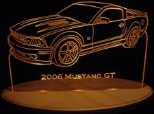 2006 Ford Mustang GT Hardtop Acrylic Lighted Edge Lit LED Car Sign / Light Up Plaque