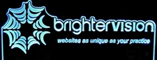 Web Sites Business Sign Brighter Vision Acrylic Lighted Edge Lit LED Sign / Light Up Plaque Full Size Made in USA