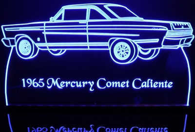 1965 Mercury Comet Caliente Acrylic Lighted Edge Lit LED