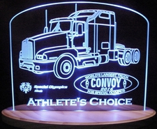 Semi Trophy Award Acrylic Lighted Edge Lit LED Sign / Light Up Plaque Full Size Made in USA