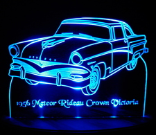 1956 Mercury Meteor Rideau Crown Victoria Acrylic Lighted Edge Lit LED Car Sign / Light Up Plaque