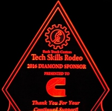 Award Trophy Presentation (Sample only design not for sale) Acrylic Lighted Edge Lit LED Sign / Light Up Plaque Rush Full Size Made in USA