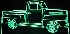 1949 Ford Pickup Truck Acrylic Lighted Edge Lit LEDTruck Sign / Light Up Plaque