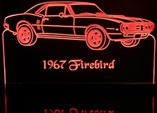 1967 Firebird Acrylic Lighted Edge Lit LED Sign / Light Up Plaque Full Size Made in USA