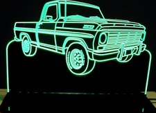 1967 F100 RH Acrylic Lighted Edge Lit LED Sign / Light Up Plaque Full Size Made in USA