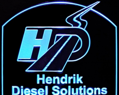 Business Logo Hendrik Acrylic Lighted Edge Lit LED Sign / Light Up Plaque Full Size Made in USA