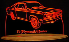 1971 Plymouth Duster Acrylic Lighted Edge Lit LED Car Sign / Light Up Plaque