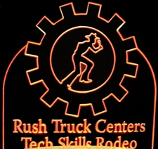 Award Trophy Rush Acrylic Lighted Edge Lit LED Sign / Light Up Plaque Full Size Made in USA