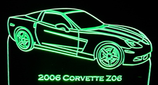 2006 Chevy Z06 Acrylic Lighted Edge Lit LED Sign / Light Up Plaque Corvette Full Size Made in USA