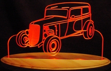 1933 Plymouth Acrylic Lighted Edge Lit LED Car Sign / Light Up Plaque Desk Model