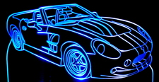 1999 Ford Cobra Shelby Series 1 Convertible Acrylic Lighted Edge Lit LED Sign / Light Up Plaque Full Size Made in USA