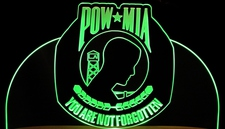 Award Trophy Presentation Pow Mia Vietnam Veterans Acrylic Lighted Edge Lit LED Sign / Light Up Plaque Full Size Made in USA