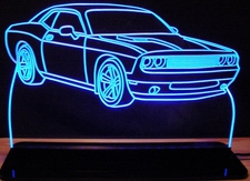 2010 Dodge Challenger Acrylic Lighted Edge Lit LED Sign / Light Up Plaque Full Size USA Original