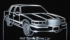 1997 Lincoln Town Car Acrylic Lighted Edge Lit LED Car Sign / Light Up Plaque