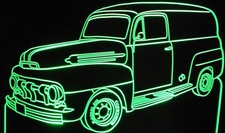1952 Ford Panel Truck Van Acrylic Lighted Edge Lit LED Sign / Light Up Plaque Full Size Made in USA