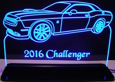 2016 Challenger RT Acrylic Lighted Edge Lit LED Sign / Light Up Plaque Full Size Made in USA