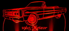 1965 Mercury Meteor Convertible Acrylic Lighted Edge Lit LED Car Sign / Light Up Plaque