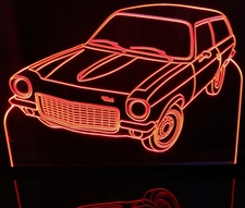 1972 Chevy Vega Acrylic Lighted Edge Lit LED Sign / Light Up Plaque Full Size Made in USA