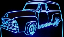 1953 Ford Panel Truck Acrylic Lighted Edge Lit LED Sign / Light Up Plaque Full Size Made in USA