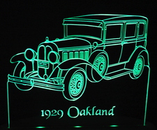 1929 Oakland Acrylic Lighted Edge Lit LED Car Sign / Light Up Plaque