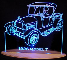 1926 Ford Model T Truck Acrylic Lighted Edge Lit LED Sign / Light Up Plaque