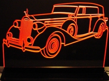 1937 Packard Acrylic Lighted Edge Lit LED Sign / Light Up Plaque Full Size Made in USA