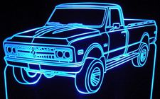 1968 GMC Pickup Truck Acrylic Lighted Edge Lit LEDTruck Sign / Light Up Plaque