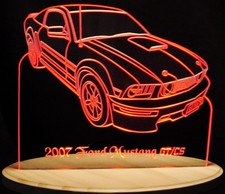 2007 Mustang GT/CS Acrylic Lighted Edge Lit LED Sign / Light Up Plaque Full Size Made in USA