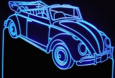1963 Volkswagon Convertible Acrylic Lighted Edge Lit LED Car Sign / Light Up Plaque