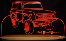 1966 Bronco Truck Acrylic Lighted Edge Lit LED Sign / Light Up Plaque Full Size Made in USA