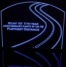 Award Presentation Winding Road Acrylic Lighted Edge Lit LED Sign / Light Up Plaque Full Size Made in USA