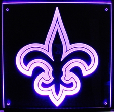Fleur De Lis Fleur-De-Lis Acrylic Lighted Edge Lit LED Sign / Light Up Plaque Full Size Made in USA