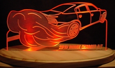 2015 Charger R/T Acrylic Lighted Edge Lit LED Sign / Light Up Plaque Full Size Made in USA