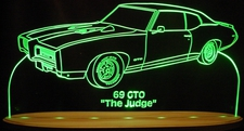1969 Pontiac Gto Acrylic Lighted Edge Lit LED Sign / Light Up Plaque Full Size Made in USA