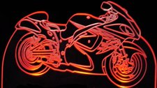 Trophy Award Motorcycle Acrylic Lighted Edge Lit LED Sign / Light Up Plaque Full Size Made in USA