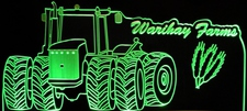 Tractor Farm (Choose Your Text) Acrylic Lighted Edge Lit LED Sign / Light Up Plaque Farms Wheat Grain Full Size Made in USA