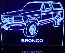 1996 Bronco Acrylic Lighted Edge Lit LED Sign / Light Up Plaque Full Size Made in USA