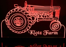 Tractor John Deere G Acrylic Lighted Edge Lit LED Car Sign / Light Up Plaque