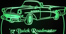 1957 Buick Roadmaster Convertible Acrylic Lighted Edge Lit LED Sign / Light Up Plaque Full Size Made in USA