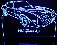 1980 Trans Am Turbo Acrylic Lighted Edge Lit LED Sign / Light Up Plaque Full Size Made in USA