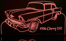 1956 Chevy 210 Acrylic Lighted Edge Lit LED Sign / Light Up Plaque Full Size Made in USA