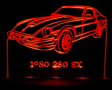 1980 Datsun 280 ZX Acrylic Lighted Edge Lit LED Car Sign / Light Up Plaque Nissan