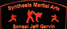 Karate Martial Arts Acrylic Lighted Edge Lit LED Sign / Light Up Plaque Full Size Made in USA