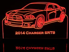 2014 Charger SRT 8 Acrylic Lighted Edge Lit LED Sign / Light Up Plaque Full Size Made in USA