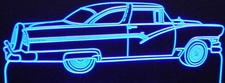 1956 Ford Crown Victoria Glass Top Acrylic Lighted Edge Lit LED Car Sign / Light Up Plaque